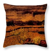 The Grand Canyon Vintage Americana Vi Throw Pillow