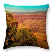 The Grand Canyon Vintage Americana Vii Throw Pillow