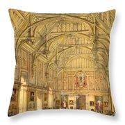 The Grand Hall, Biddington, Surrey Throw Pillow