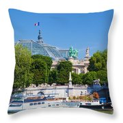 The Grand Palais And The Alexandre Bridge Paris Throw Pillow