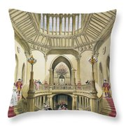 The Grand Staircase, Windsor Castle Throw Pillow