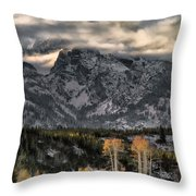 The Grand Teton Throw Pillow