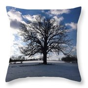 The Grand Tree Season Winter Throw Pillow