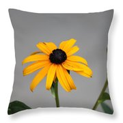 The Gray Day Of Yellow Throw Pillow