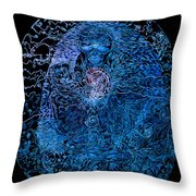 The Great Amma In Black Light Throw Pillow