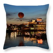 The Great And Powerful Oz Over Downtown Disney Throw Pillow