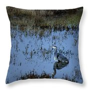 The Great Blue Calm Throw Pillow