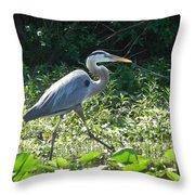 The Great Blue Heron Throw Pillow