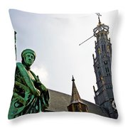 The Great Church Of Haarlem Throw Pillow