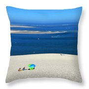 The Great Dune Of Pila In Arcachon Bay Throw Pillow