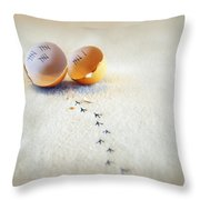 The Great Eggscape Throw Pillow