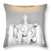 The Great Emancipator Throw Pillow by Greg Fortier