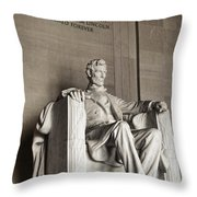 The Great Emancipator Throw Pillow by Olivier Le Queinec
