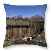 The Great Falls In Paterson Throw Pillow