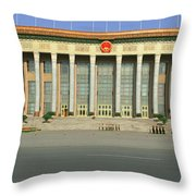 The Great Hall Of The People Throw Pillow