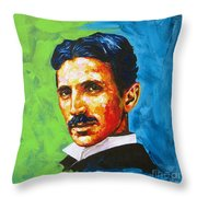 The Great Inventor Throw Pillow