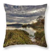 The Great Lake Castle Howard Throw Pillow