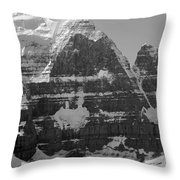 1m3752-bw-the Great North Face Of North Twin Throw Pillow