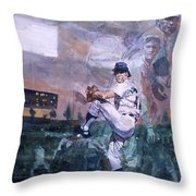 The Great Pitchers Best Hurlers Face Throw Pillow