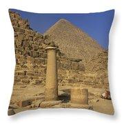 The Great Pyramids Giza Egypt  Throw Pillow by Ivan Pendjakov