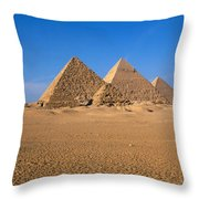 The Great Pyramids Giza Egypt Throw Pillow