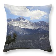 The Rocky Mountains - Colorado Throw Pillow by Mike McGlothlen