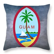The Great Seal Of Guam Territory Of Usa  Throw Pillow