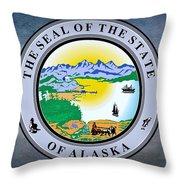 The Great Seal Of The State Of Alaska  Throw Pillow