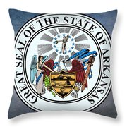 The Great Seal Of The State Of Arkansas Throw Pillow