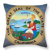The Great Seal Of The State Of California Throw Pillow