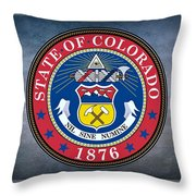The Great Seal Of The State Of Colorado Throw Pillow