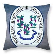 The Great Seal Of The State Of Connecticut Throw Pillow