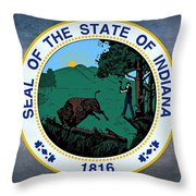 The Great Seal Of The State Of Indiana  Throw Pillow