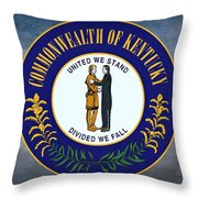 The Great Seal Of The State Of Kentucky  Throw Pillow