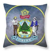 The Great Seal Of The State Of Maine  Throw Pillow