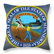 The Great Seal Of The State Of Minnesota Throw Pillow