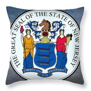 The Great Seal Of The State Of New Jersey Throw Pillow