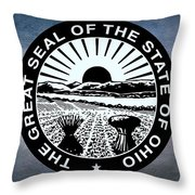The Great Seal Of The State Of Ohio  Throw Pillow