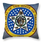 The Great Seal Of The State Of Oklahoma Throw Pillow