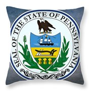 The Great Seal Of The State Of Pennsylvania  Throw Pillow