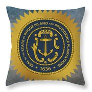 The Great Seal Of The State Of Rhode Island Throw Pillow