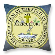 The Great Seal Of The State Of Tennessee Throw Pillow by Movie Poster Prints