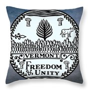 The Great Seal Of The State Of Vermont Throw Pillow