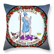 The Great Seal Of The State Of Virginia  Throw Pillow