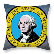The Great Seal Of The State Of Washington Throw Pillow