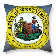 The Great Seal Of The State Of West Virginia Throw Pillow