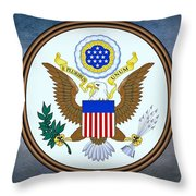 The Great Seal Of The United States  Throw Pillow