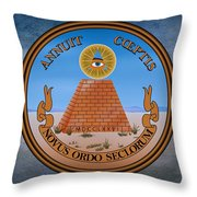The Great Seal Of The United States Reverse Throw Pillow