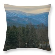 The Great Smoky Mountains From Cades Cove Throw Pillow
