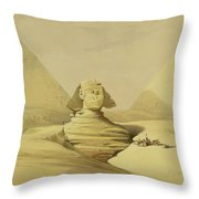 The Great Sphinx And The Pyramids Of Giza Throw Pillow